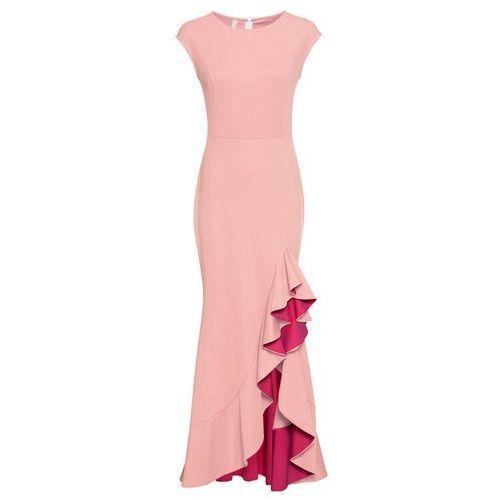 Sukienka shirtowa warstwowa bonprix czarny, kolor różowy
