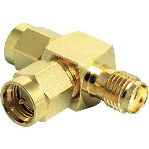 Antena wifi adapter y [2x złącze męskie sma - 1x złącze żeńskie sma] 0.00 m złoty  wyprodukowany przez Delock