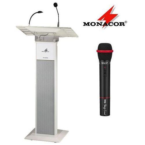 Przenośna mównica z mikrofonem ets-840txs marki Monacor