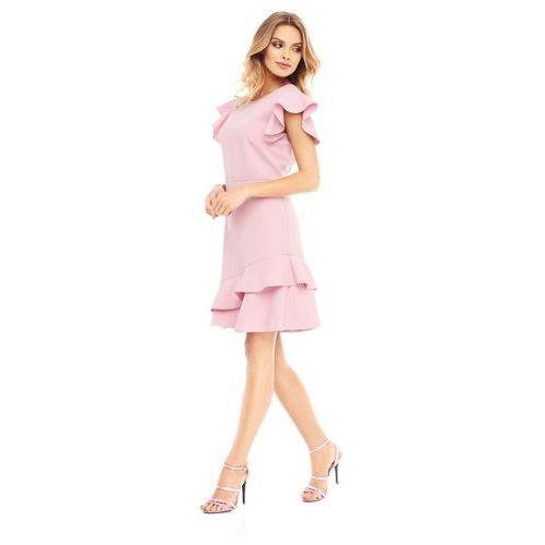 Sukienka Laelia w kolorze różowym, kolor różowy