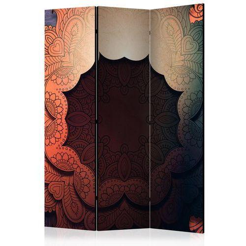 Artgeist Parawan 3-częściowy - kwiecisty kołnierz (czerwony) [room dividers] bogata chata