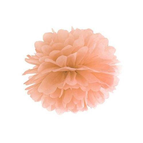 Ap Dekoracja wisząca pompon kwiat - brzoskwiniowa - 35 cm - 1 szt.