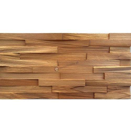 Panele Drewniane Buk europejski - cegiełka drobna ciosana *003 - , Natural Wood Panels z Meblobranie.pl
