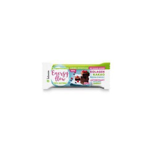 superfoodbar 30g baton energy flow owocowo-orzechowy z kakao orzechami nerkowca i kolagenem marki Intenson