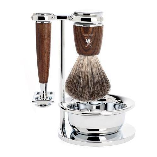 Mühle Rytmo S81H220SSR Zestaw do golenia: Pędzel, Maszynka na żyletki, stojak i miseczka, jesion