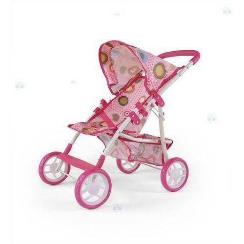 Wózek dla lalek Natalia różowo-brązowy - oferta [05dbd94fd3af15c4]
