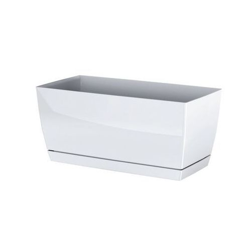 4home Prosperplast plastikowa skrzynka coubi case z podstawką biały, 24 cm, 24 cm