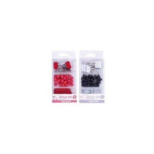 Zestaw biurowy pinezki, klipy i spinacze mix 66 sztuk (6954884592097)