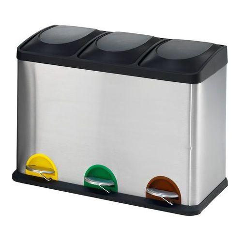 Pojemnik do segregacji ADDISON, 3 przegrody, 480x590x340 mm, 45 L