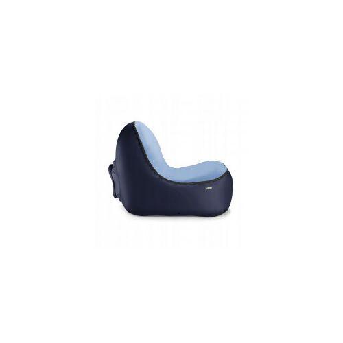 Fotel dmuchany Trono Dark Blue z welurową nakładką, 00416