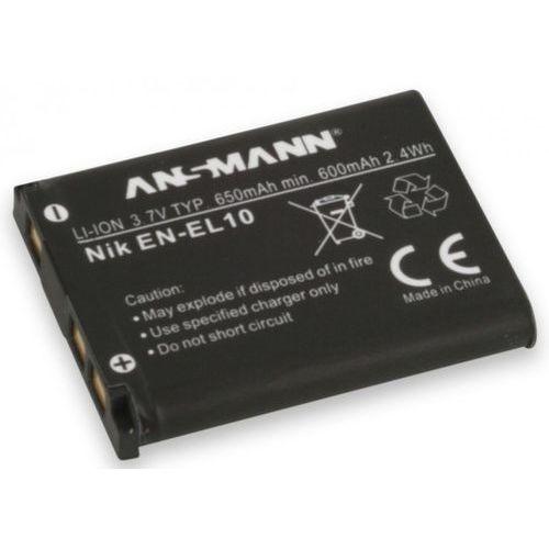 Akumulator ANSMANN do Nikon A-Nik EN EL 10 (650 mAh) + Zamów z DOSTAWĄ JUTRO!