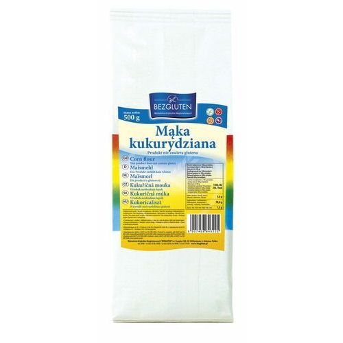 Mąka kukurydziana 500g bezglutenowa bezgluten marki Bezgluten s.c. (produkty bezglutenowe) dystrybutor: mariusz koczwara,