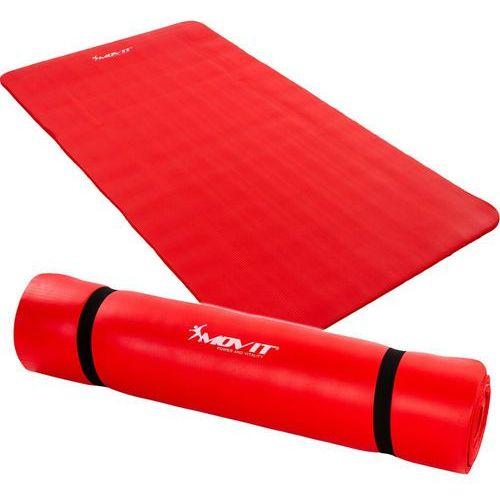 Movit ® Czerwona mata piankowa 190x60x1,5cm do ćwiczeń / gimnastyki / fitness - czerwony / 190x60x1,5 cm (20040322)