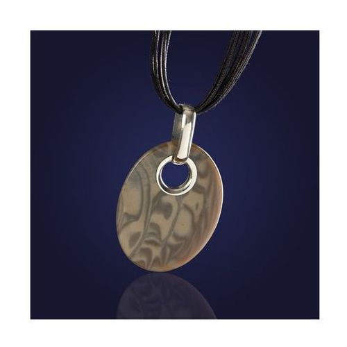 Oryginalny wykonany ręcznie srebrny wisiorek z krzemienia pasiastego na rzemieniu. ze sklepu AnKa Biżuteria