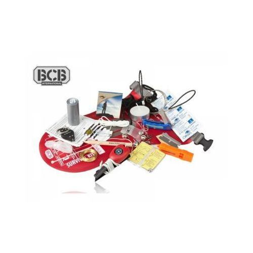 Bcb Wodoodporny profesjonalny survivalowy zestaw przetrwania waterproof survival kit (21-elementów).