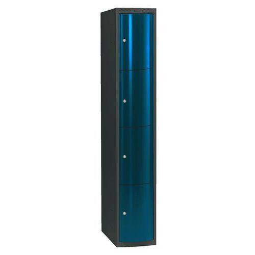 Ekskluzywne szafy osobiste 1x4 schowkim Kolor drzwi: Niebieski metalizowany od AJ Produkty