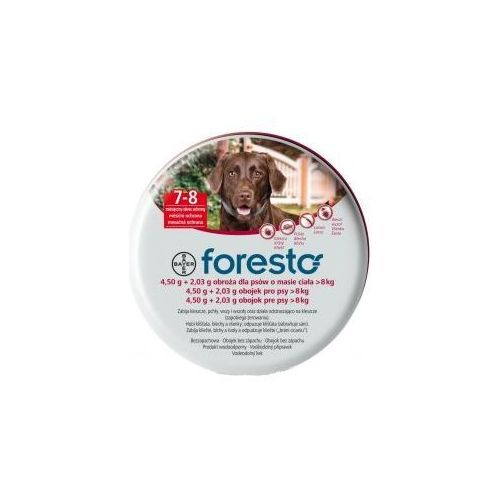 Bayer Foresto Obroża 4,5g + 2,03g dla psów >8kg ze sklepu KAR-MA.pl