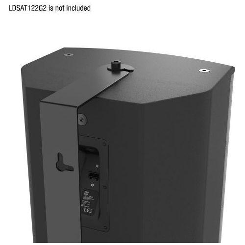 LD Systems SAT 122 G2 WMB obrotowy uchwyt ścienny do SAT 122 G2, czarny, LDSAT122G2WMB