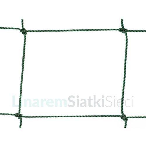 Siatka na ogrodzenia boisk. Piłkołap polietylenowy oko 120mm x 120mm splotka Ø 2,5mm.