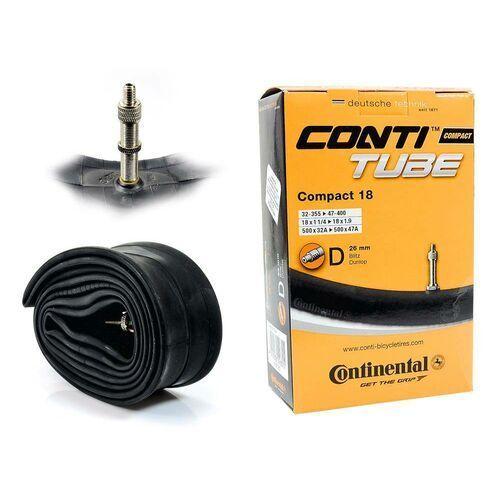 Continental Co0181181 dętka compact 17/18'' x 1,25'' - 1,75'' wentyl dunlop 26 mm (4019238556315)