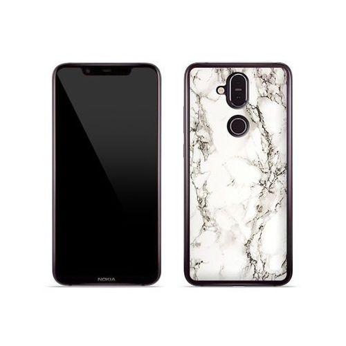 Nokia 8.1 - etui na telefon Fantastic Case - biały marmur