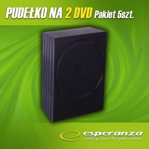 pudełko na 2 dvd 14mm black 5 szt. darmowa dostawa do 400 salonów !! wyprodukowany przez Esperanza