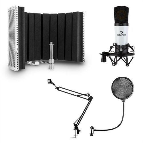 Auna mic-920, zestaw mikrofonowy usb v5, mikrofon, ramię odchylane, pop-filtr, ekran (4060656386404)