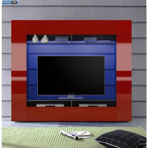 Meblościanka RTV Lakierowana różne kolory LOLA 185/162cm - ART ze sklepu meble24sklep