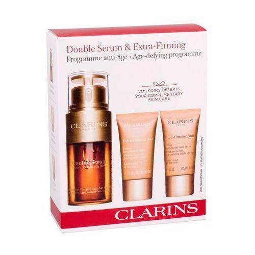 Clarins Double Serum zestaw 30 ml Serum do twarzy 30 ml + Krem na dzień 15 ml + Krem na noc 15 ml dla kobiet (3380810223903)