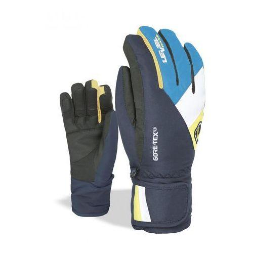 LEVEL Dziecięce rękawice narciarskie Force L czarny/niebieski, kolor niebieski