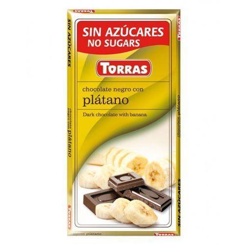Czekolada gorzka z bananami bez cukru 75g - Torras