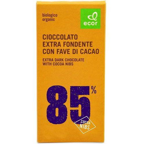 Czekolada gorzka min. 85% kakao z kruszonym ziarnem kakao BIO 80 g Ecor