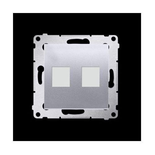Kontakt-simon Pokrywa gniazd teleinformatycznych na keystone płaska podwójna (moduł); srebrny mat