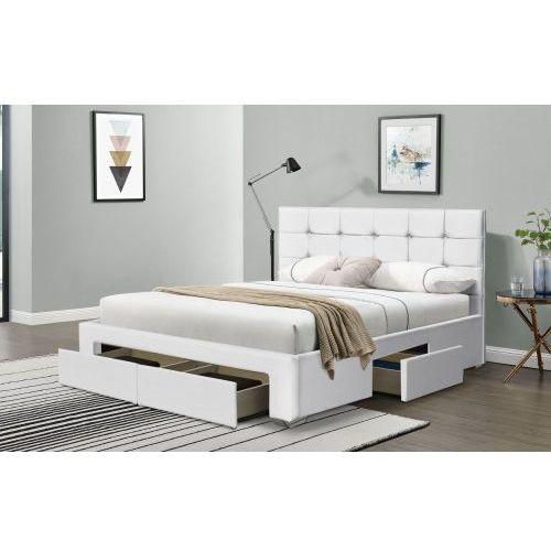 Meblemwm Łóżko tapicerowane do sypialni 140x200 sf921 biały