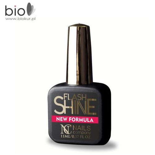 Nails company Flash shine new formula uv protect / top hybrydowy - 11 ml