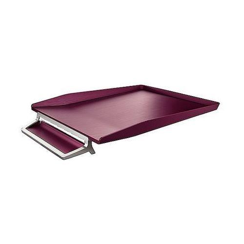 Leitz Półka na dokumenty style z miejscem na długopis, ciemnoczerwona 52560028