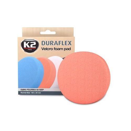 K2 Duraflex - pomarańczowa gąbka polerska na rzep gąbka średniościerna, twarda - szt (5906534008367)