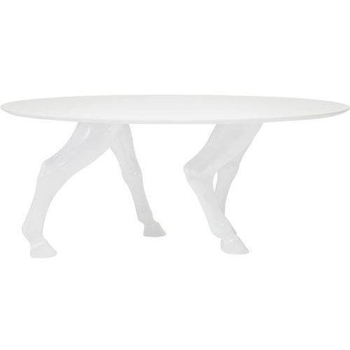 Kare Design Horseshoe Biały Stół Lakierowana Wysoki Połysk 180x100 cm - 78809 - produkt dostępny w sfmeble.pl