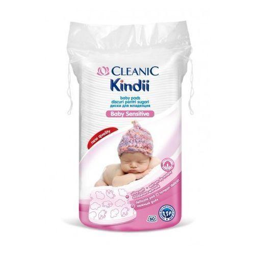 Cleanic, Kindii Baby Sensitive. Płatki kosmetyczne dla niemowląt, 60szt - Cleanic, 000792