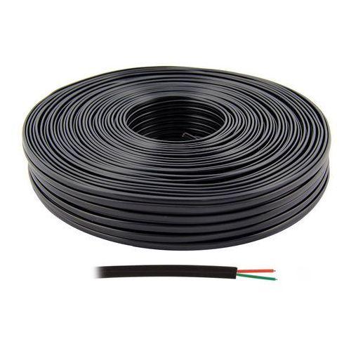 Kabel telefoniczny płaski 2 żyłowy czarny, KAB0501