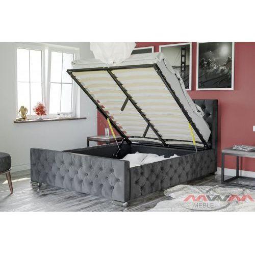 Łóżko tapicerowane do sypialni 160x200 1253g welur marki Meblemwm