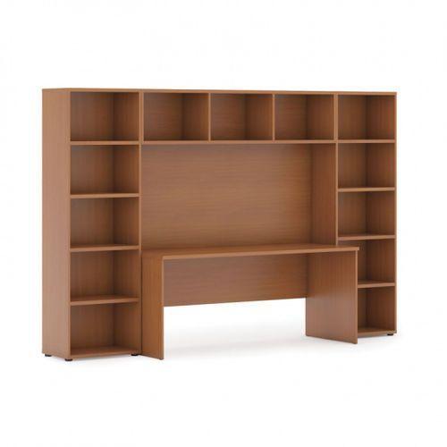 Biblioteka z wbudowanym biurkiem, niska, 2950x700/400x1923 mm, czereśnia