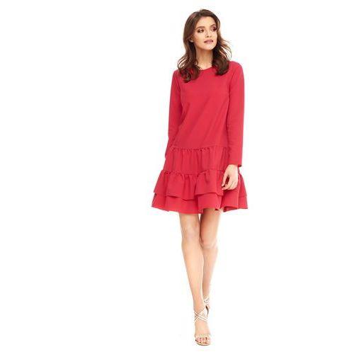 Sugarfree Sukienka cambriee w kolorze czerwonym