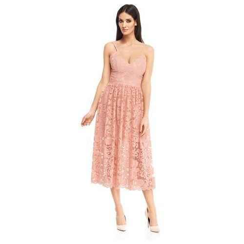 Sukienka Cadenza w kolorze różowym, kolor różowy