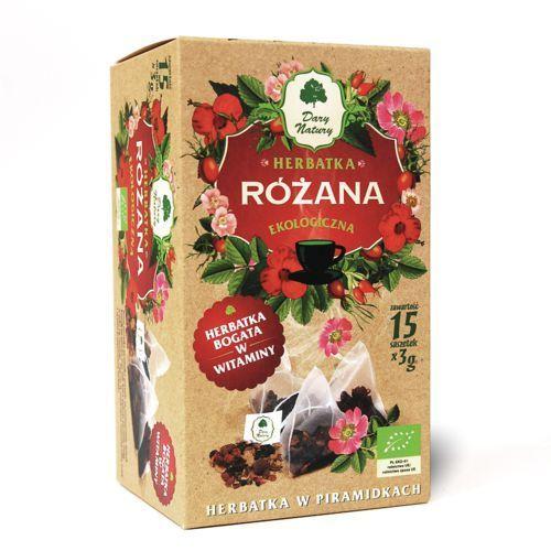 Dary Natury Różana herbatka ekologiczna bogata w witaminy 100% EKO 15x3g (5902741004321)