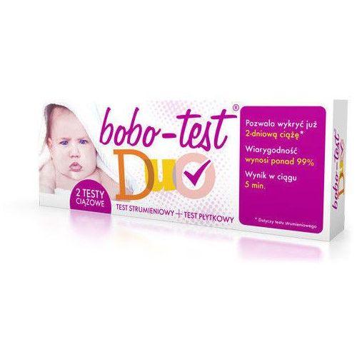 Bobo-test duo x 2 testy ciążowe strumieniowy+płytkowy, Diagnosis