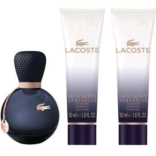 Eau de Lacoste Sensuelle zestaw woda perfumowana spray 50ml + żel pod prysznic 2x50ml (kosmetyk)