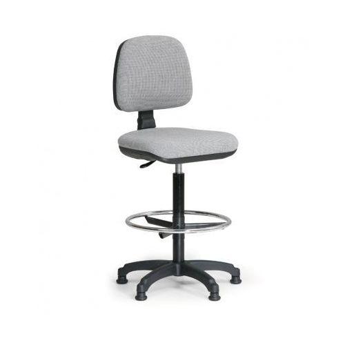 B2b partner Podwyższone krzesło biurowe milano z podnóżkiem - szare