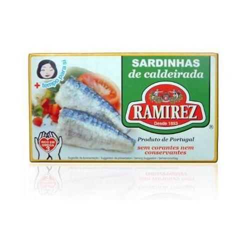 Sardynki portugalskie duszone z warzywami w białym winie 125g marki Ramirez