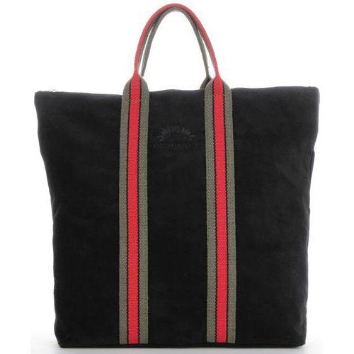 8b0eed0968018 Vittoria Gotti Torebki Skórzane w modne paski Firmowy Shopper Made in Italy  z funkcją Plecaczka Czarny (kolory) 235,00 zł Stylowa i praktyczna - taka  jest ...
